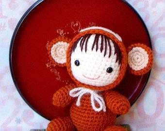 Amigurumi Pattern - Zodiac Monkey Baby - Crochet amigurumi doll tutorial PDF