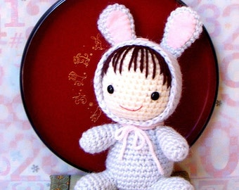 Crochet amigurumi Pattern - Zodiac Rabbit Baby - Crochet toy doll tutorial PDF