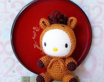 Amigurumi Pattern - Zodiac Horse Kitty - Crochet amigurumi doll pattern / PDF