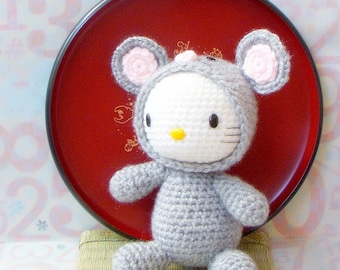 Crochet amigurumi Pattern - Zodiac Rat Kitty - amigurumi doll pattern/PDF