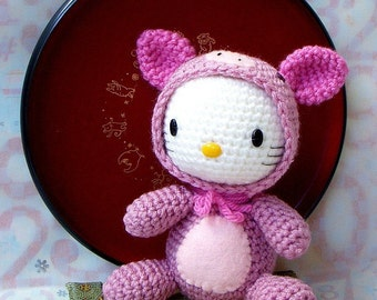 Amigurumi Pattern Zodiac Pig - Crochet amigurumi doll pattern/PDF - kitty version
