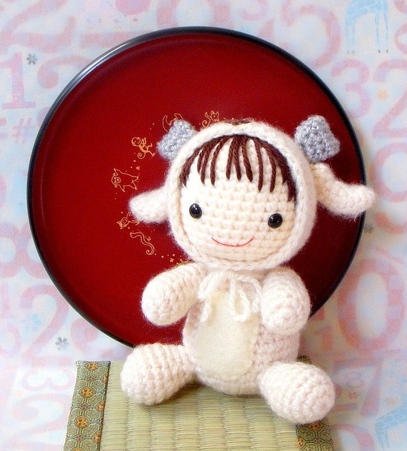 Amigurumi Pattern - Zodiac Sheep Baby - Crochet amigurumi doll tutorial PDF