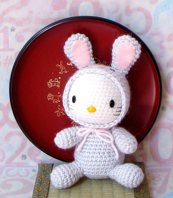 Amigurumi Pattern - Zodiac Rabbit Kitty - Crochet  amigurumi zodiac toy doll tutorial PDF