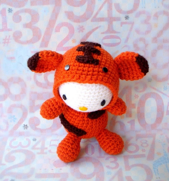 Amigurumi Pattern - Zodiac Tiger Kitty - Crochet amigurumi ...
