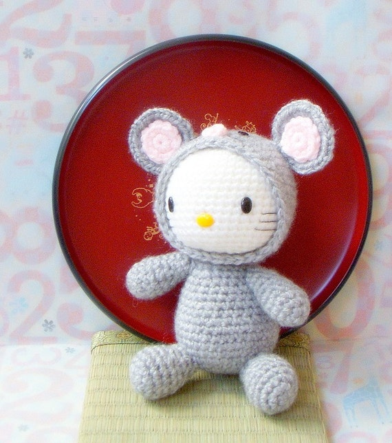 Crochet amigurumi Pattern Zodiac Rat Kitty amigurumi doll