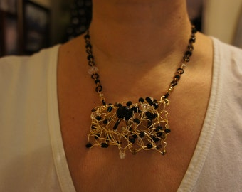 The Bold and Beautiful. Chunky Crocheted Pendant Necklace