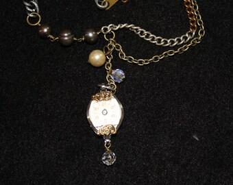Time piece necklace