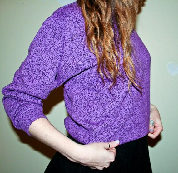 Rad Purple Composition Sweatshirt