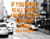 Work Hard Be Kind, 8x8 Print