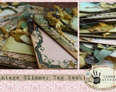 Vintage Glimmer Tag Book Class Embellishment Pack