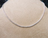 SIlver--3mm Mesh chain necklace BUY 4 GET 1 FREE for European charms and beads three sizes