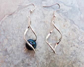 Single Twist Add a Bead Earrings fits European style Beads -- one pair