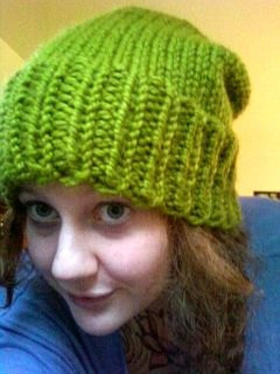 Vibrant Funky Green Slouch Hat