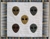 Alien Miniature Quilt or Wallhanging