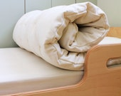 Pure Wool Filled Organic Crib Topper/nap mat