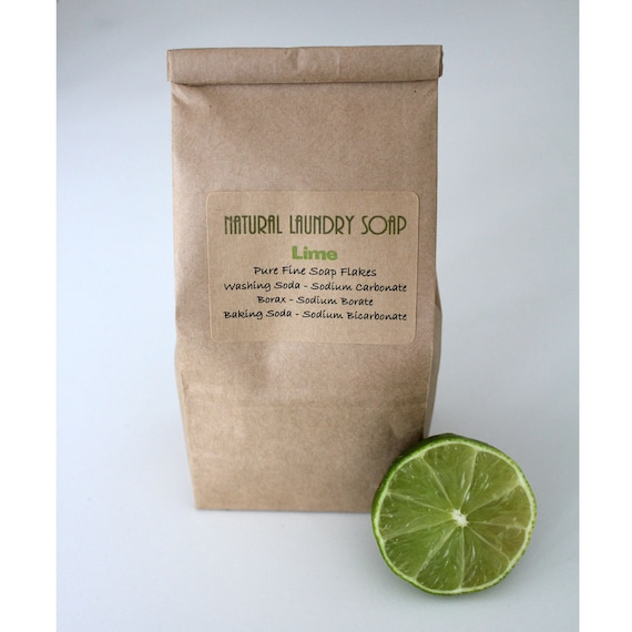 Natural Laundry Soap, LIME scented