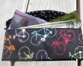Money Pouch,  Coupon Holder, Clutch, Bikes, Bicycles, Ready To Ship!