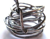 Snake Ring Sterling Silver Wire Wrap Coiled Unisex Men Women Fashion Jewelry
