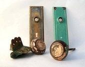 Art Deco Door Knobs, Back Plates and Hinge