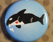 Orca Whale - 1 inch Button