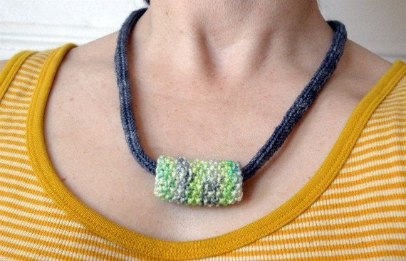 Knit Necklace in Neon