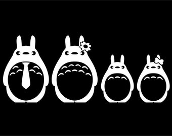 Totoro Family Sticker Set