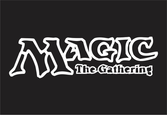 Magic the Gathering MTG Logo Sticker White by shallowswampstudios: www.etsy.com/listing/89142705/magic-the-gathering-mtg-logo-sticker