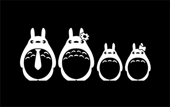 Totoro Family Sticker Set