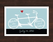 Bicycle Save the Date Card - Digital Download