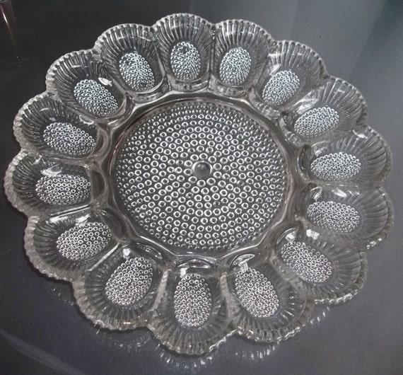 Vintage Glass Egg Platter