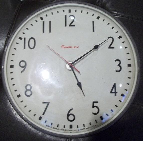 Vintage Simplex Wall Clock