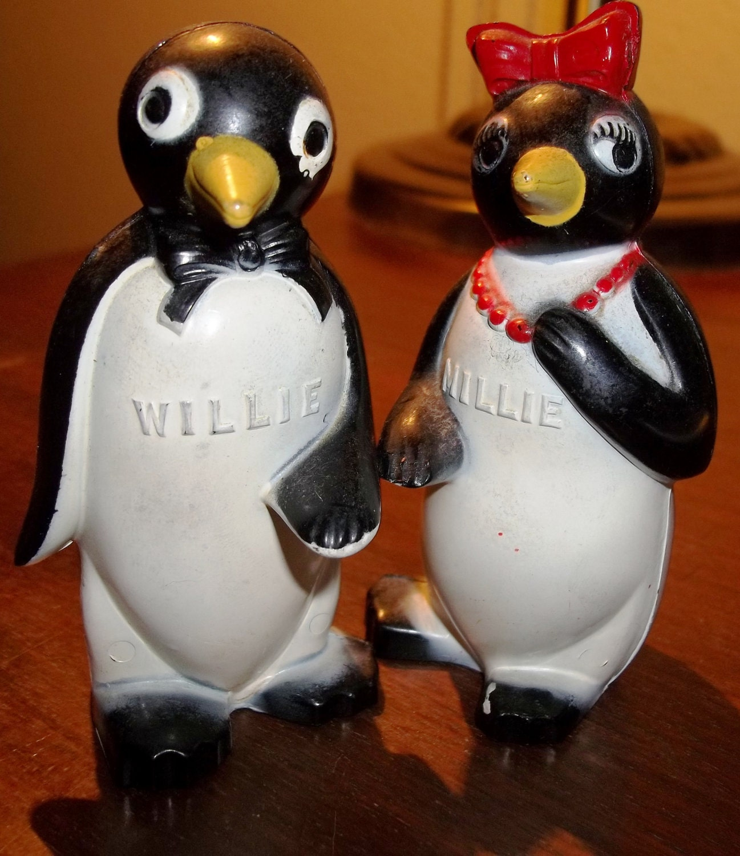 Vintage Willie And Millie Salt Amp Pepper Shakers