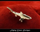 Sterling Silver Tiger Shark Pendant
