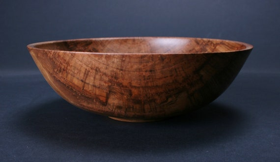 Mineral Stained Red Gum Wooden Bowl 784