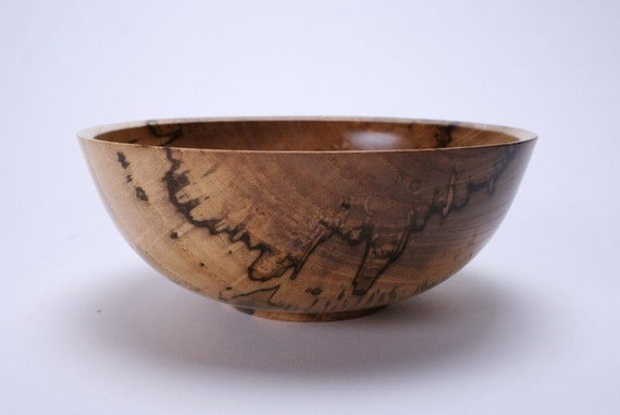 Spalted Hackberry Wooden Bowl 844