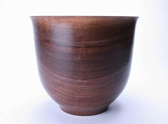 Handturned Wild Black Walnut Wooden Bowl  869