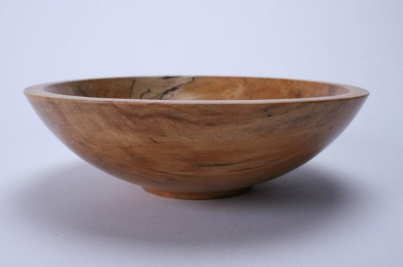Handturned Spalted Gum Wood Bowl  848