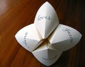Cootie Catcher Love Note  - Custom Calligraphy