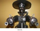 Collectable Metal Cowboy Sculpture - Trik Hik