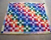 Handmade Rainbow Patchwork Baby Crib Quilt