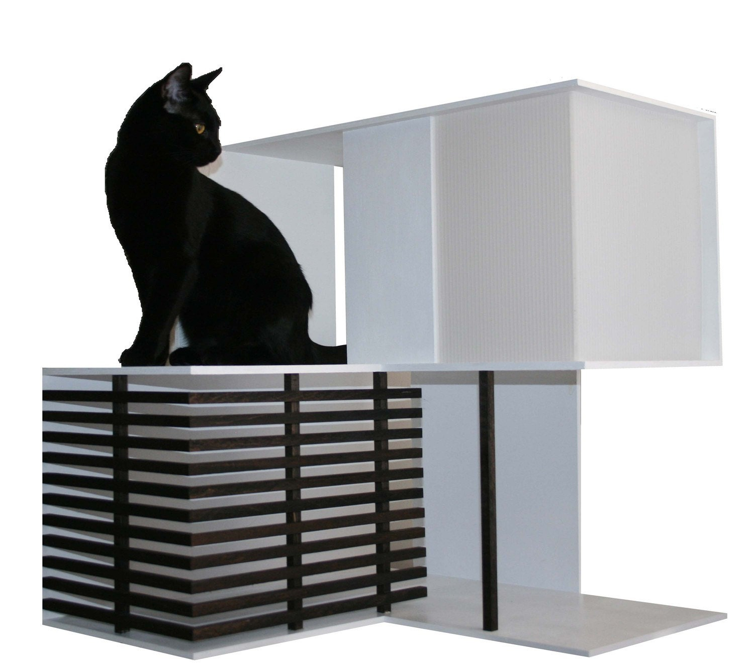 Custom Modern Wooden Cat Houses