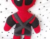 deadpool marvel inspired soft action figure doll