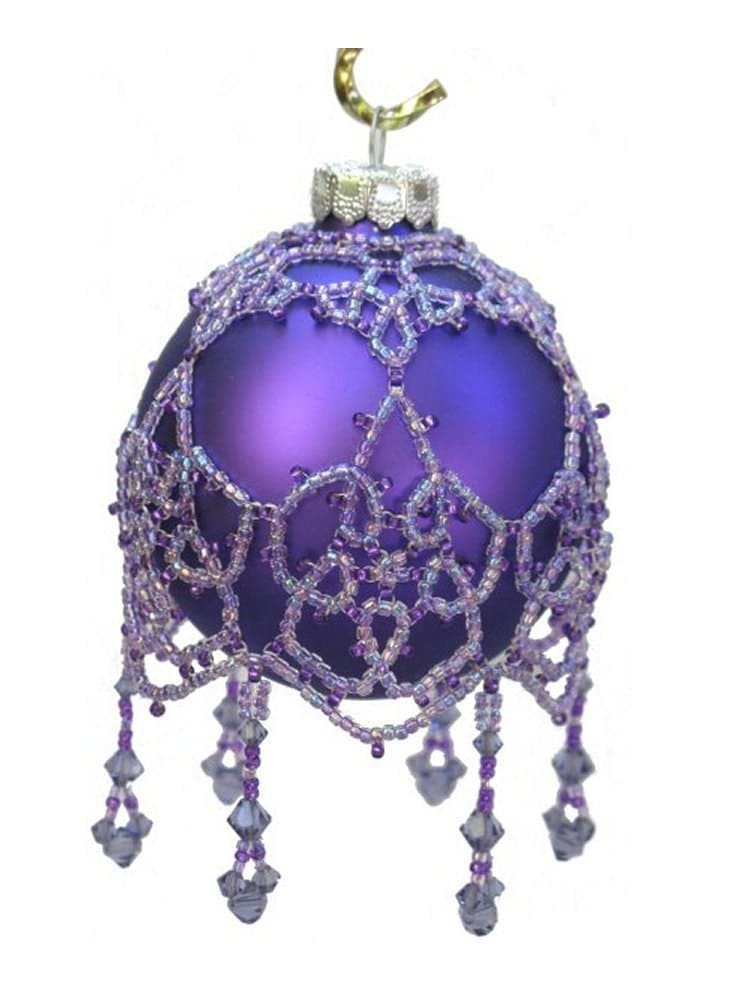 Lace picot beaded ornament pattern for Design ornaments