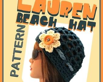 The LAUREN Beach Beanie Pattern/Tutorial - permission to sell