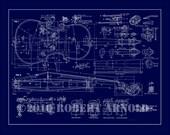 "Blueprint of a 19th c. Violin Maker's Plans - 11"" x 14"""