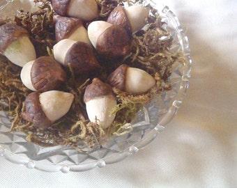 Acorns, Autumn Bowl Fillers, Set of 10