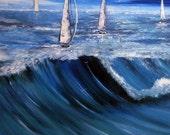 Australian Original painting on Canvas - Seascape - Waves - Ocean - Wall art - Home decor - Art on Canvas - seascape - acrylic on canvas
