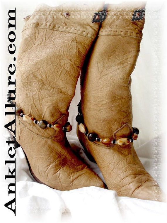 Southwestern Natural Stone Color Boot Chains Western Jewelry Biker Bracelets