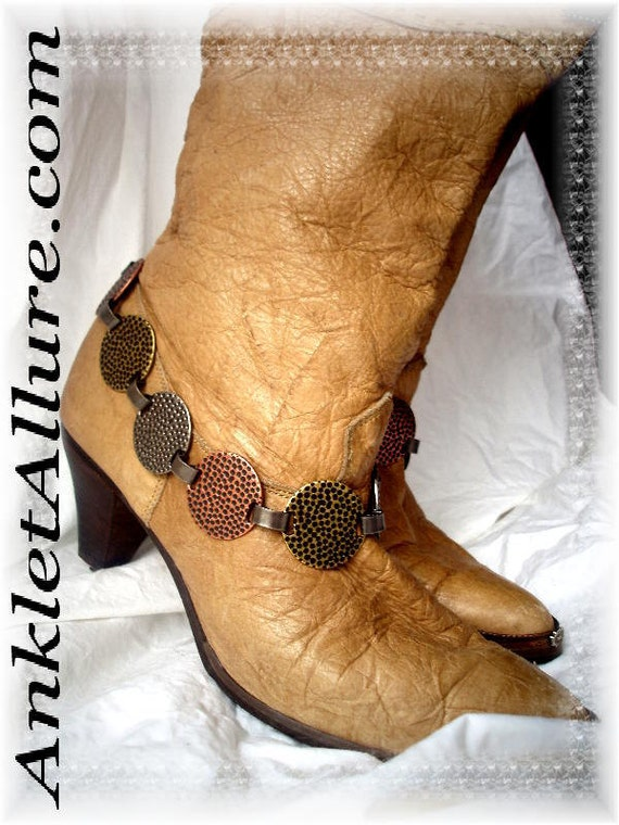 Hammer Time Round Link Boot Chains Motorcycle BoHo Cowboy Boots Western Jewelry