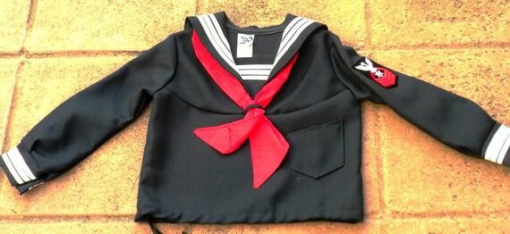 Vintage Sailor Toddler Top for Girl or Boy Size 3-4
